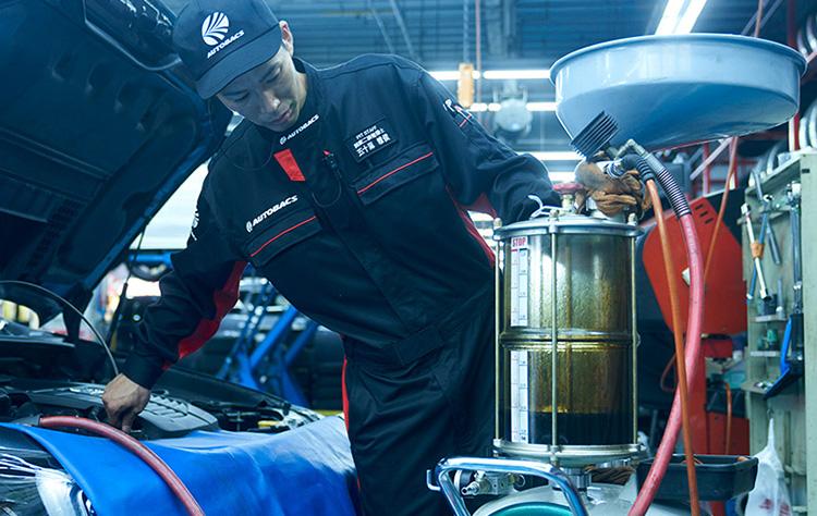 オートバックスエンジンオイル交換